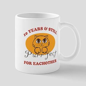 10th Purr-fect Anniversary Mug