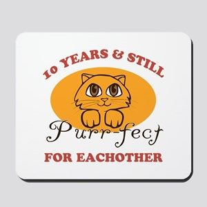 10th Purr-fect Anniversary Mousepad