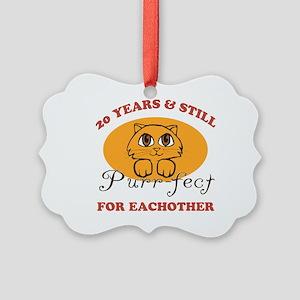 20th Purr-fect Anniversary Picture Ornament