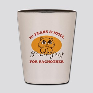 20th Purr-fect Anniversary Shot Glass