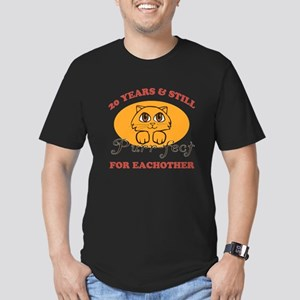 20th Purr-fect Anniversary Men's Fitted T-Shirt (d