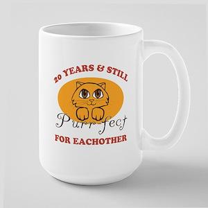 20th Purr-fect Anniversary Large Mug