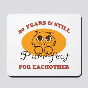 20th Purr-fect Anniversary Mousepad