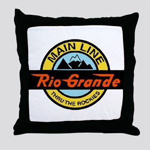 Rio Grande Rockies Railway Throw Pillow