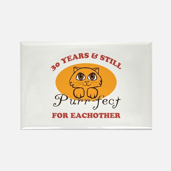 30th Purr-fect Anniversary Rectangle Magnet