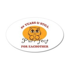 50th Purr-fect Anniversary Wall Decal