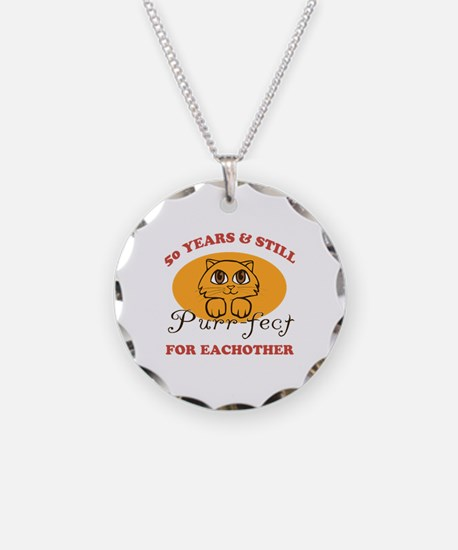 50th Purr-fect Anniversary Necklace