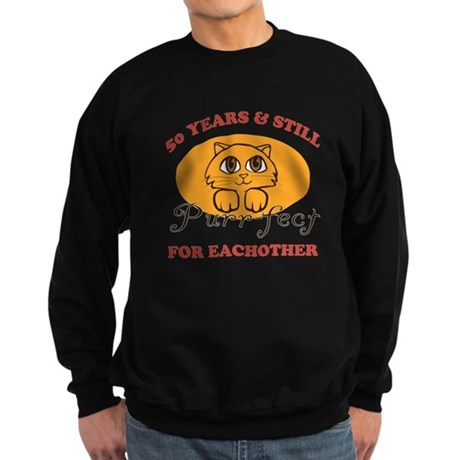 50th Purr-fect Anniversary Sweatshirt (dark)
