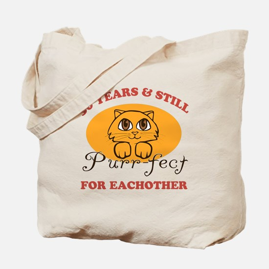 50th Purr-fect Anniversary Tote Bag