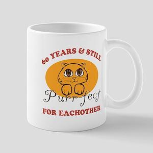 60th Purr-fect Anniversary Mug