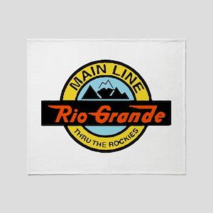 Rio Grande Rockies Railway Throw Blanket