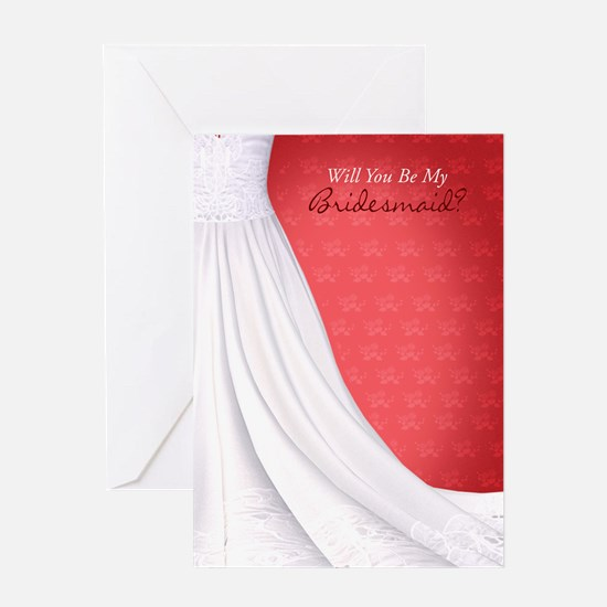 Will You Be My Bridesmaid Greeting Card Red