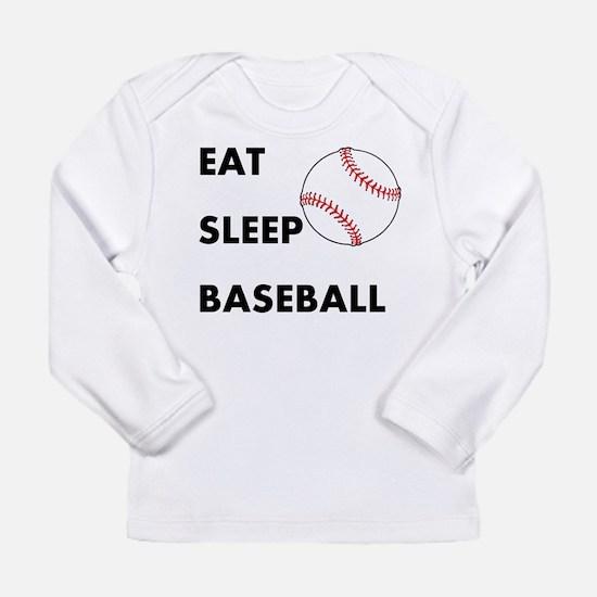 Eat Sleep Baseball Long Sleeve Infant T-Shirt