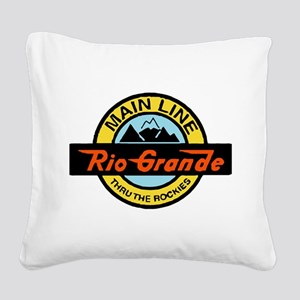 Rio Grande Rockies Railway Square Canvas Pillow