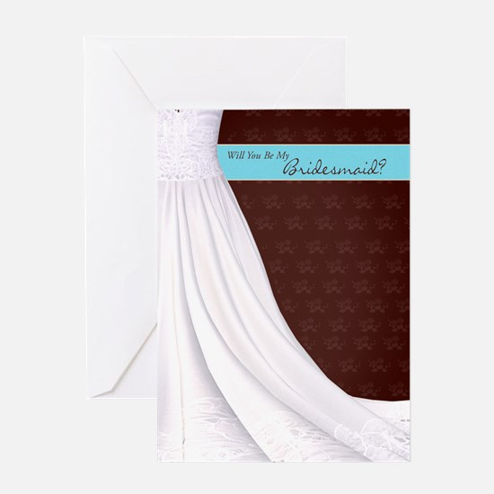 Will You Be My Bridesmaid Greeting Card In Brown A