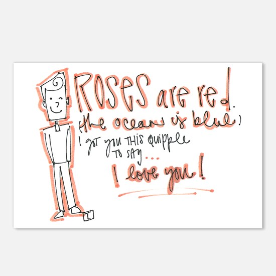 Valentines Day - Quipple Poem Postcards (Package o