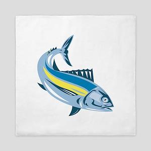 Albacore Tuna Fish Retro Queen Duvet