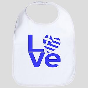 Blue Greek LOVE Bib