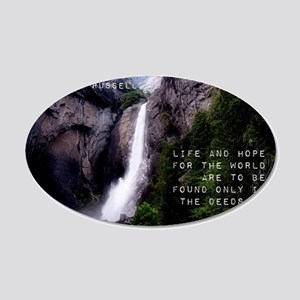 Life And Hope - Bertrand Russell 20x12 Oval Wall D