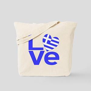 Blue Greek LOVE Tote Bag