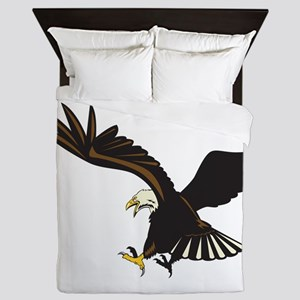 Bald Eagle Flying Queen Duvet