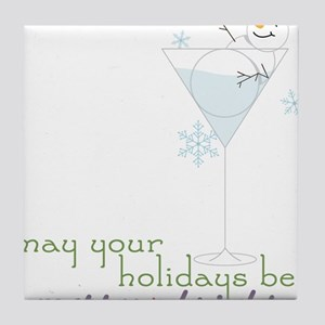 Merry And Bright Tile Coaster