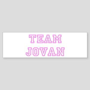 Pink team Jovan Bumper Sticker