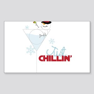 Just Chillin Sticker (Rectangle)