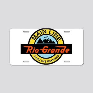 Rio Grande Rockies Railway Aluminum License Plate