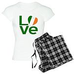 Green Irish Love Women's Light Pajamas