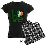 Green Irish Love Women's Dark Pajamas