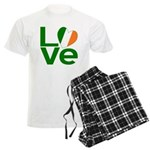 Green Irish Love Men's Light Pajamas