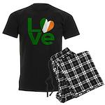 Green Irish Love Men's Dark Pajamas
