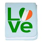 Green Irish Love baby blanket