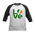 Green Irish Love Kids Baseball Jersey