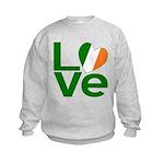 Green Irish Love Kids Sweatshirt