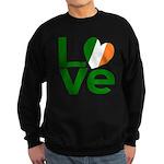 Green Irish Love Sweatshirt (dark)