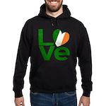 Green Irish Love Hoodie (dark)