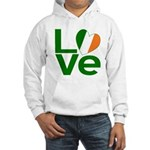 Green Irish Love Hooded Sweatshirt