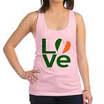 Green Irish Love Racerback Tank Top