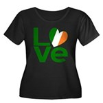 Green Irish Love Women's Plus Size Scoop Neck Dark