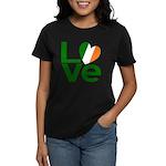 Green Irish Love Women's Dark T-Shirt