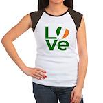 Green Irish Love Women's Cap Sleeve T-Shirt