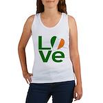 Green Irish Love Women's Tank Top