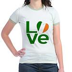 Green Irish Love Jr. Ringer T-Shirt