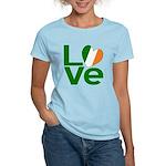 Green Irish Love Women's Light T-Shirt