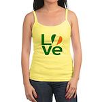 Green Irish Love Jr. Spaghetti Tank
