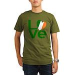 Green Irish Love Organic Men's T-Shirt (dark)