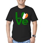 Green Irish Love Men's Fitted T-Shirt (dark)