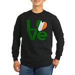 Green Irish Love Long Sleeve Dark T-Shirt